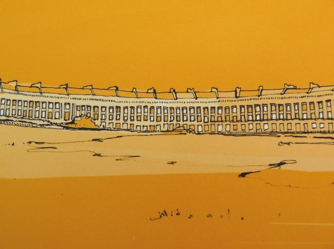 Royal Crescent Bath Yellow - Close Up 1
