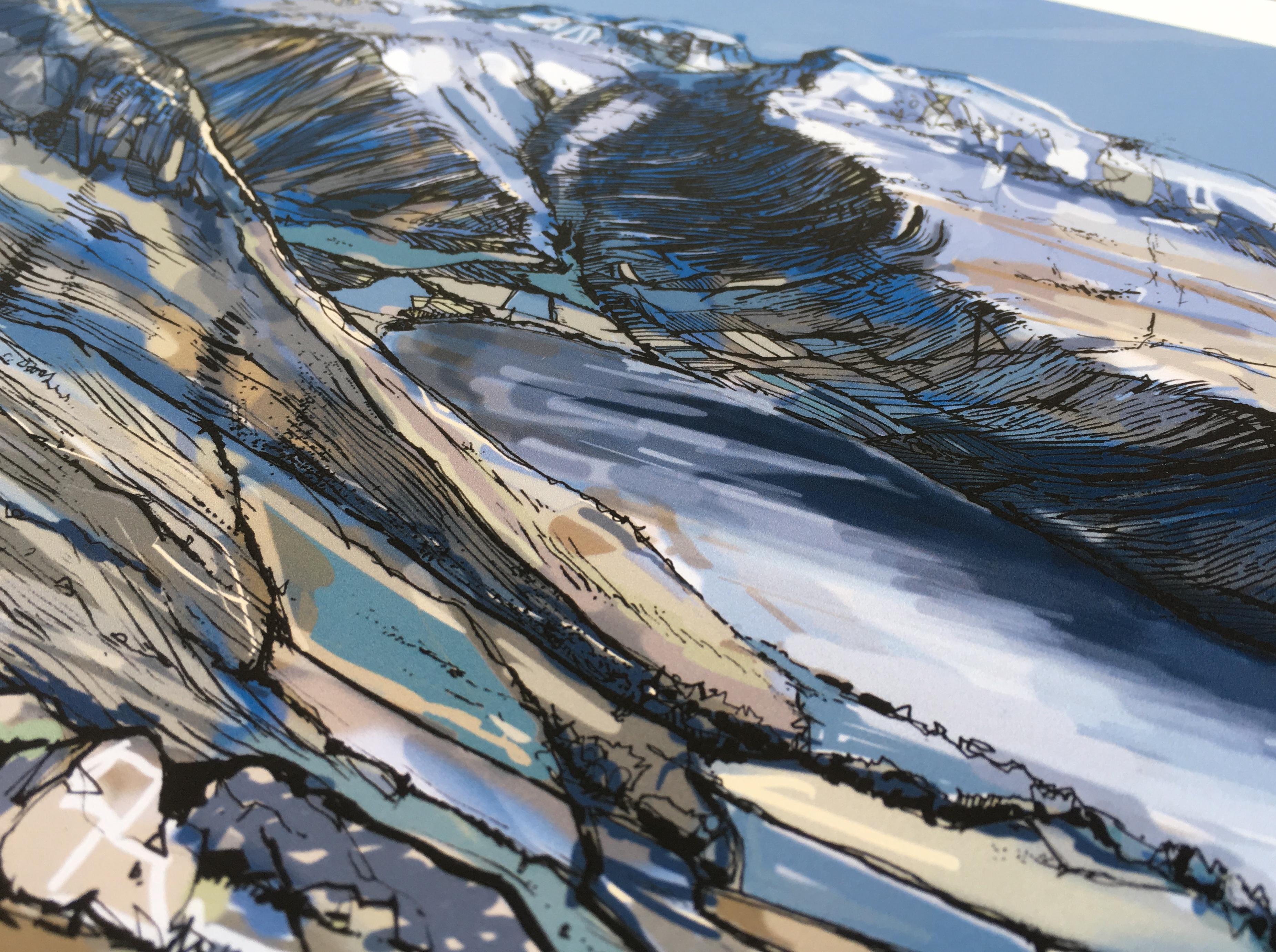 Scafell Pike Art Print - Detail