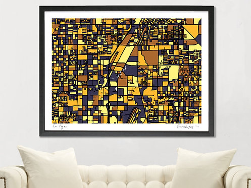 LAS VEGAS ART MAP PRINT