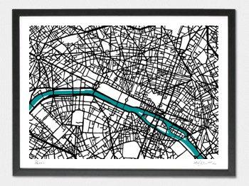 Paris Map - A1
