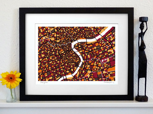 SHANGHAI ART MAP PRINT