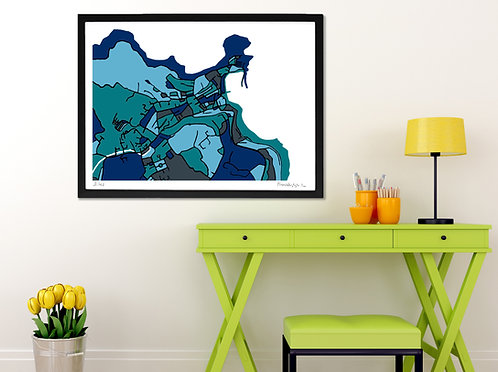ST. IVES ART MAP PRINT