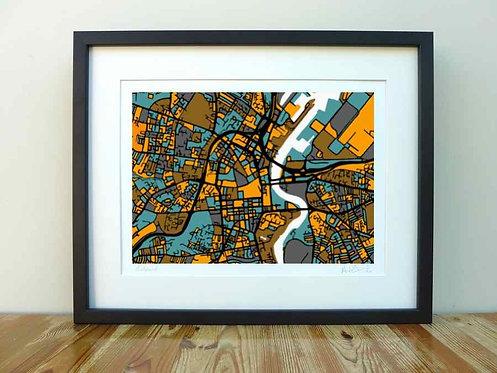 Belfast Map - A4