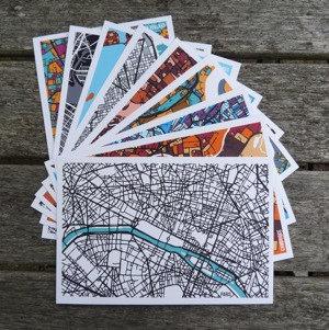 Set of 9 Postcards