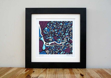 """SOLD OUT Bristol Map - 8""""x 8"""""""