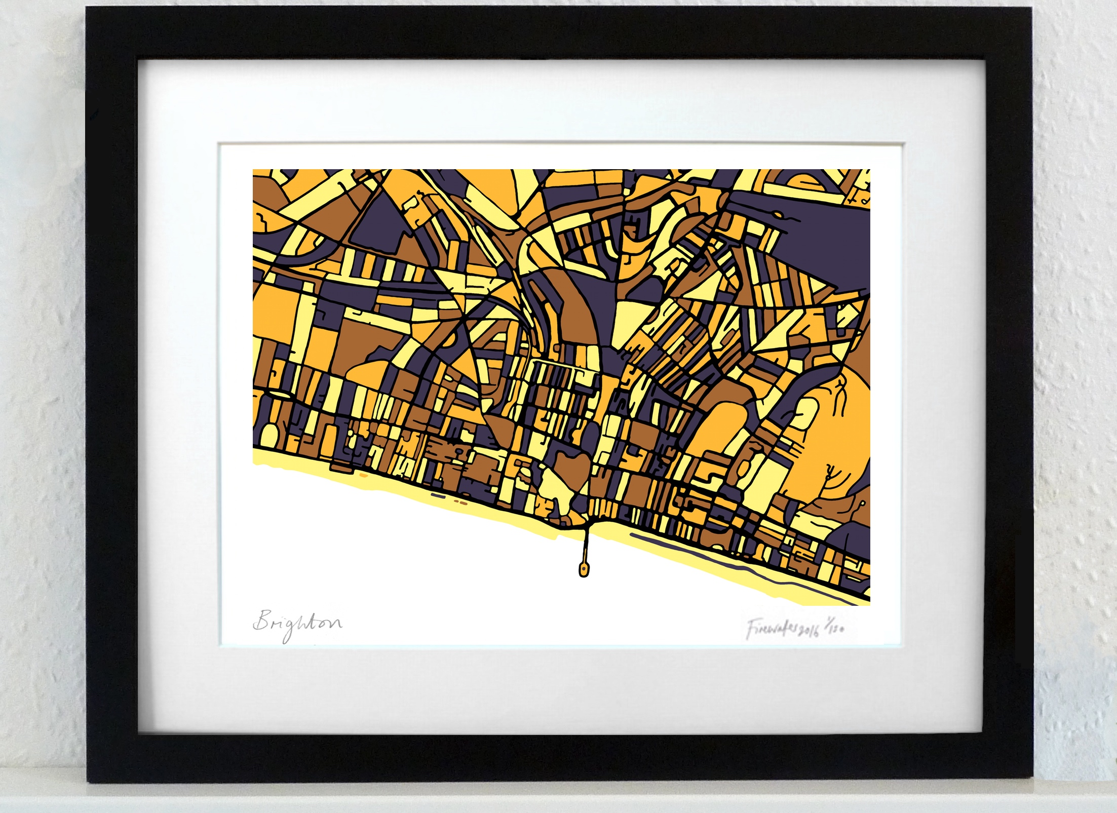 Brighton Art Map - A3 & A4