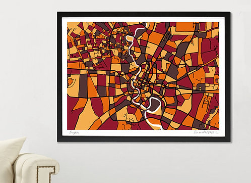 BANGKOK ART MAP PRINT