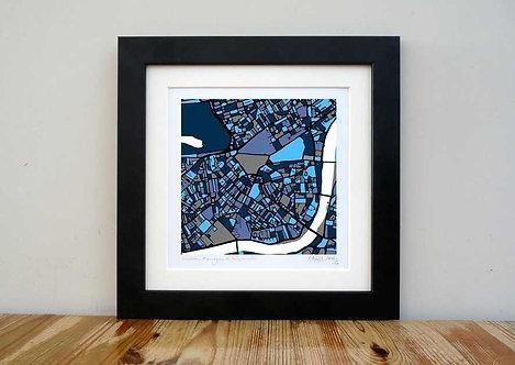 "Chelsea & Kensington Map - 8""x 8"""