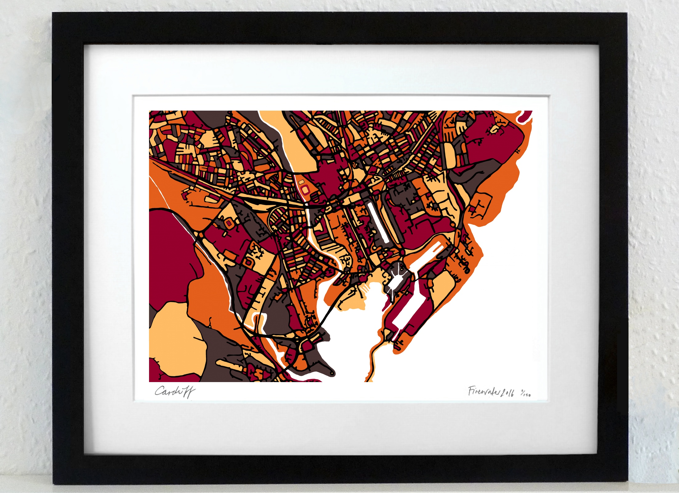 Cardiff Art Map - A3 & A4