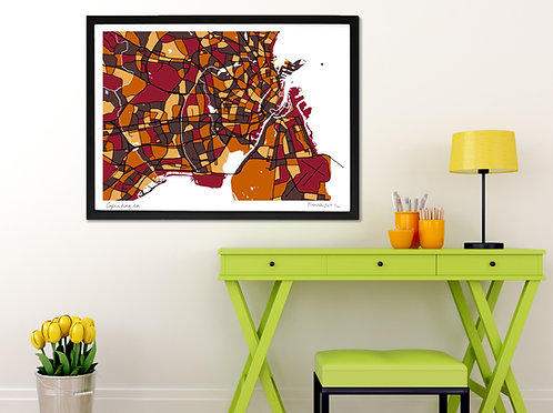COPENHAGEN ART MAP PRINT