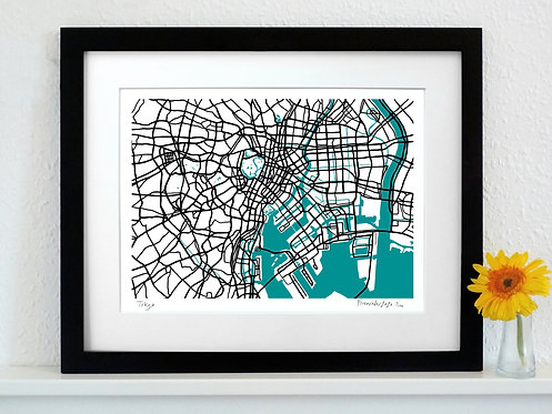 TOKYO ART MAP PRINT