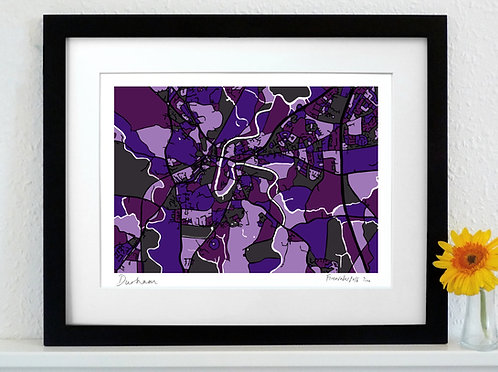 DURHAM ART MAP PRINT