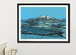 Snowdon Art Print - Blue - A1_A2