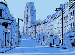 Park Street Bristol Art Print Detail