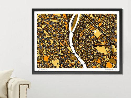 BUDAPEST ART MAP PRINT