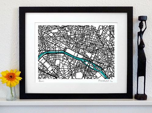 PARIS ART MAP PRINT