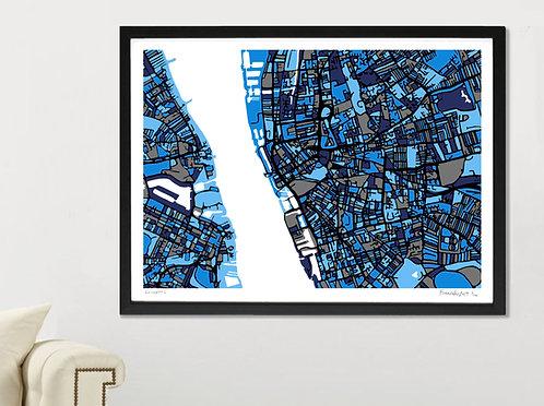 LIVERPOOL ART MAP PRINT