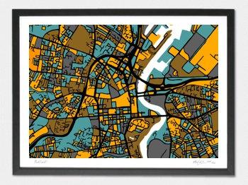 Belfast Map - A1