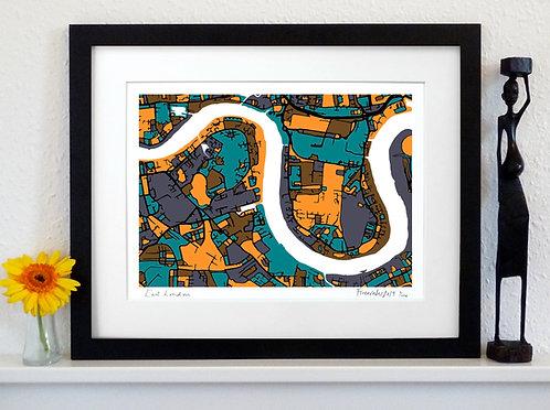 EAST LONDON ART MAP PRINT
