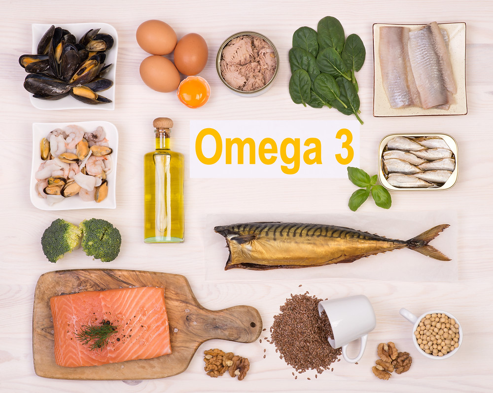 Several foods rich in omega-3 fatty acids