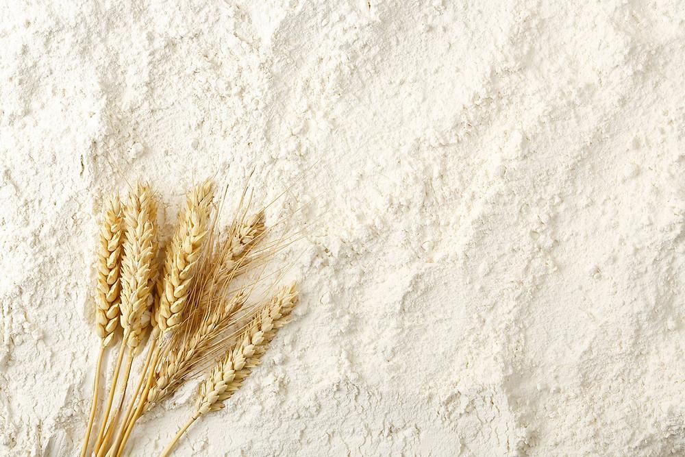 Grain and white flour