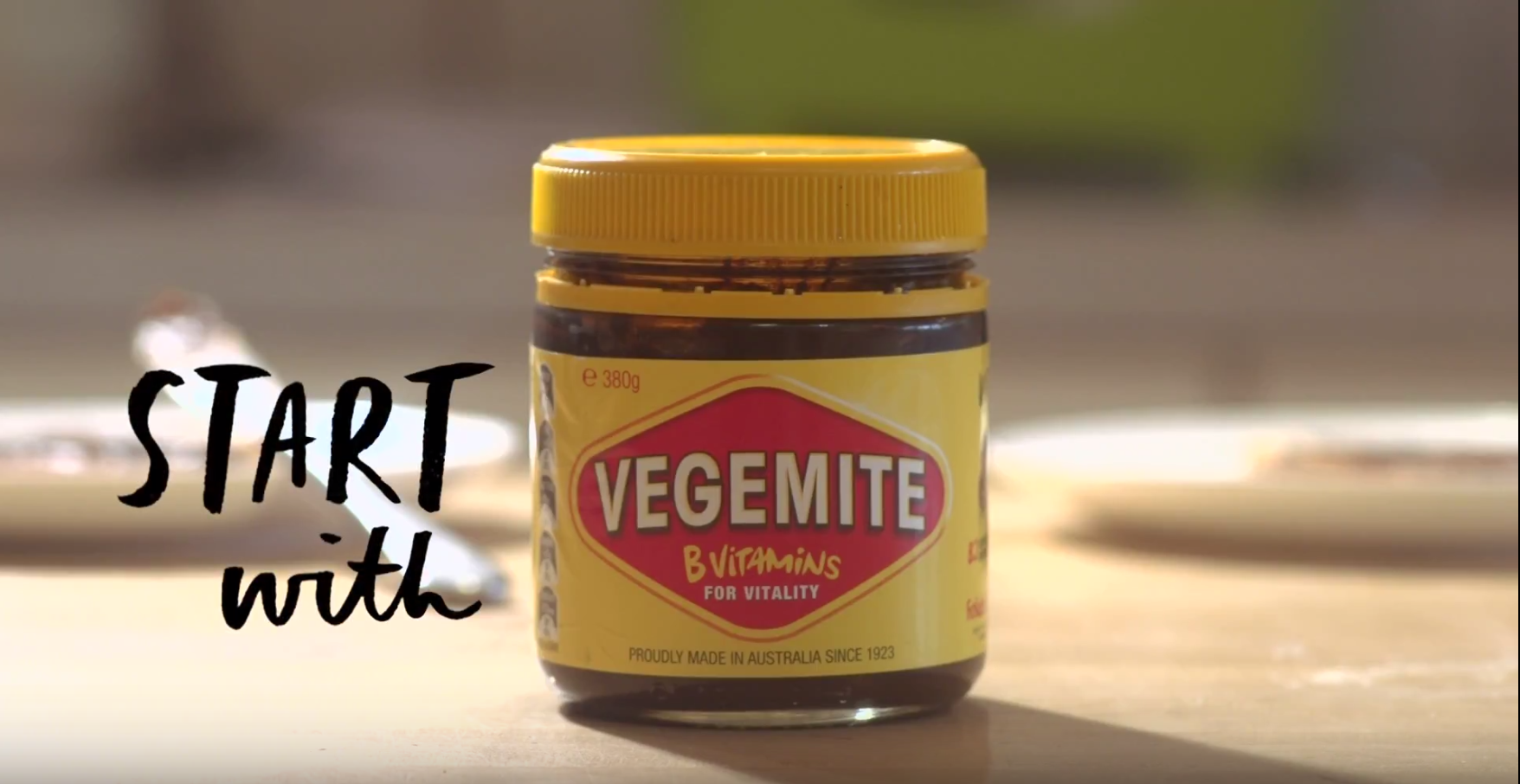 Start with vegemite