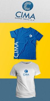 Branding Cima Aplicacion del logo sobre tela (Fotomontaje)