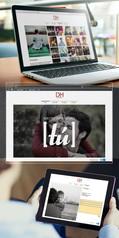 Branding DM Fotografía Página web (Fotomontaje)
