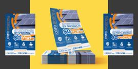 Volante/Flyer, en 2 idiomas.  Cliente: Core Energy Solar (Imagen: Vista previa/Fotomontaje)