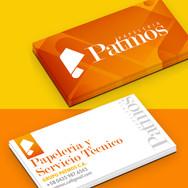 Branding Patmos Tarjeta de presentación (Fotomontaje)