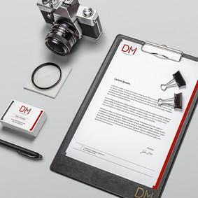 Branding DM Fotografía Papelería (Fotomontaje)