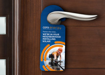 Colgador para puertas.  Cliente: Core Energy Solar (Imagen: Vista previa/Fotomontaje)