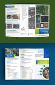 Maquetación de Tríptico Empresarial / Brochure o Folleto Plegable de 3 cuerpos.  Cliente: BG Metal Trade (Imagen: Vista previa/Fotomontaje)