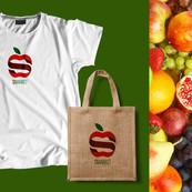 Branding S-Market Aplicacion del logo y slogan en diferentes superficies. (Fotomontaje)