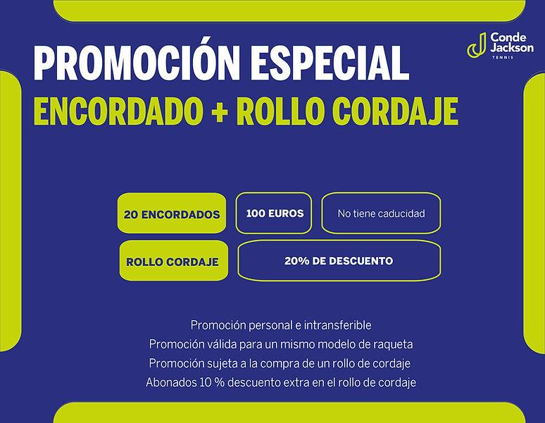 PROMOCION ESPECIAL ENCORDADO DE RAQUETAS
