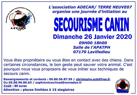 secourisme canin affiche lavilledieu jan