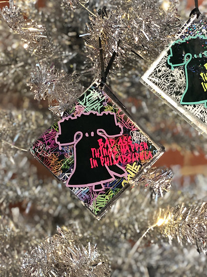 Liberty Bell - Bad Ass Things Happen In Philadelphia Ornament
