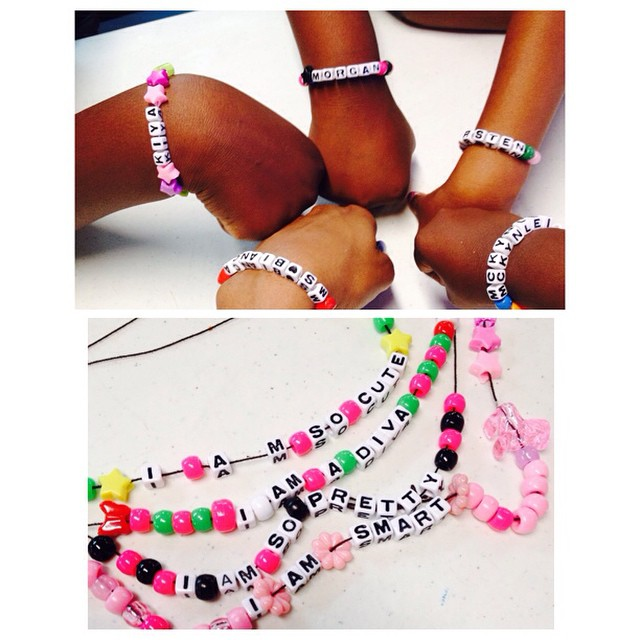 So cute !! Daily we do an activity to boost our self-esteem!! Girls love jewelry!! We made items tod