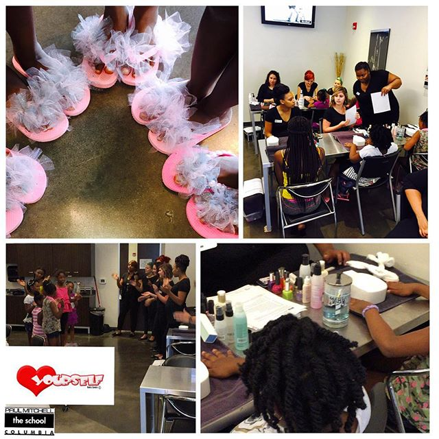 Thank You So  Much #paulmitchell _pmtscolumbiasc!! The girls had a great class on Nail Care & they a