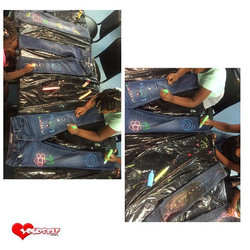 I love celebrating Individualism!!! The girls are designing their own jeans for our upcoming fashion