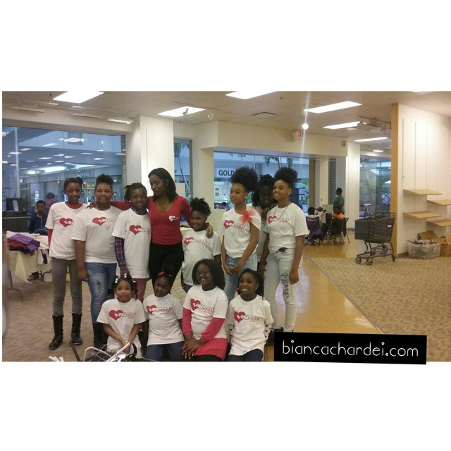 Giving back is a huge part of my Platform!! On Saturday Love Yourself served as volunteers for _broo