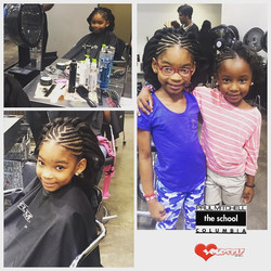 I love my girls!!! Today was all about Hair Care !! I took the girls to get their hair done and some