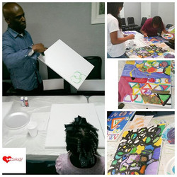 From Paper  to Canvas!!! Professor Brown, Associate Professor of Art at Benedict College & the Direc