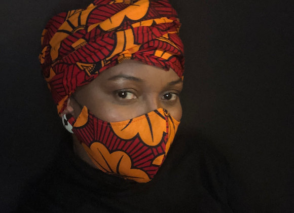 Ubafu Head Wrap & Mask Set
