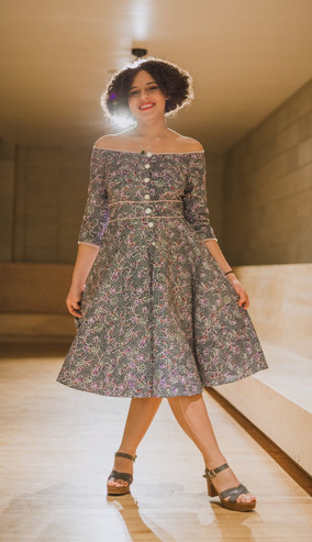 Of the shoulder Dress