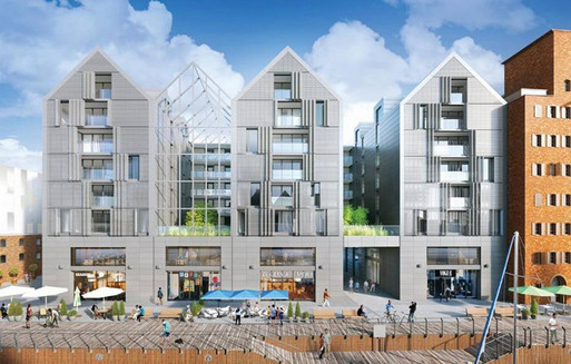 komplesk mieszkalno usługowy, studio architektoniczne kwadrat, architektura, doradztwo techniczne elewacji studio profil, gdańsk