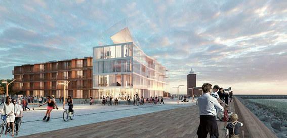 Budynki mieszkalne, apartamenty, Darłówek, architektura APA Wojciechowski, projekt techniczny elewacji Studio Profil