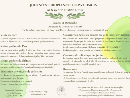 18 & 19 septembre : Journées européennes du Patrimoine