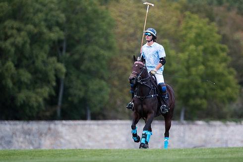 Un joueur de polo à Courances