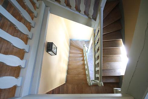 Escalier de la Ferme INSEAD au Domaine de Courances